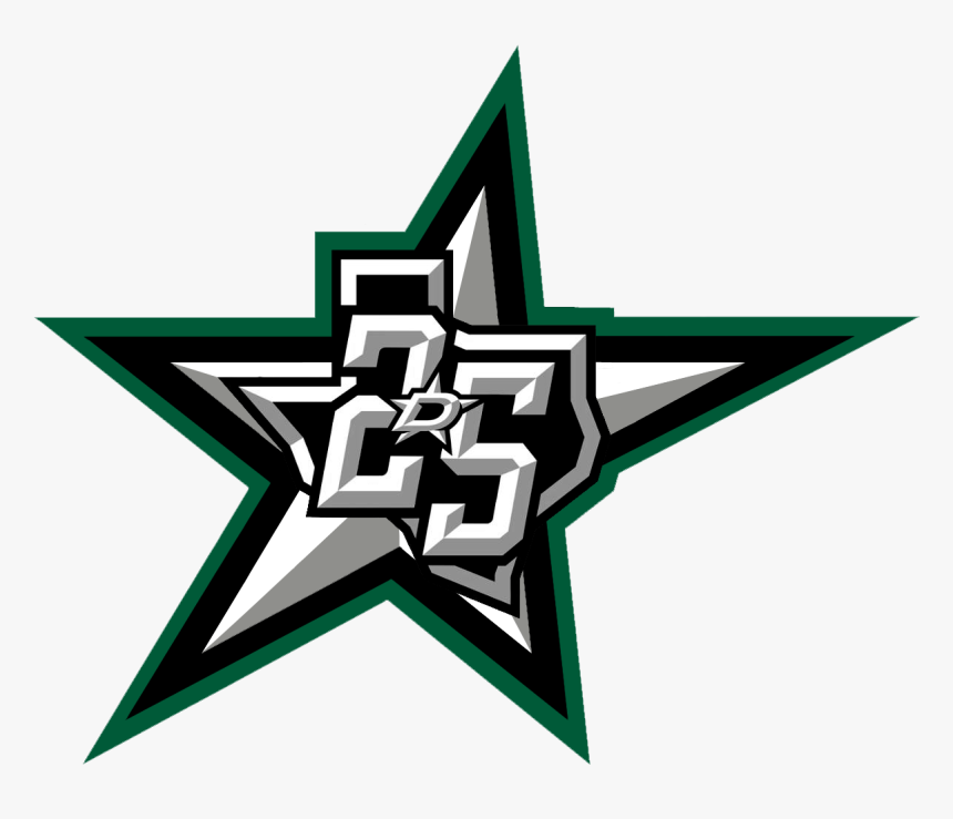 Stars Logo With D Replaced With 25th Aniversary Logo - Dallas Stars, HD Png Download, Free Download