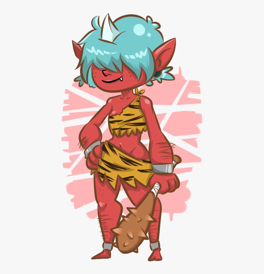Oni Girl - Cartoon, HD Png Download, Free Download