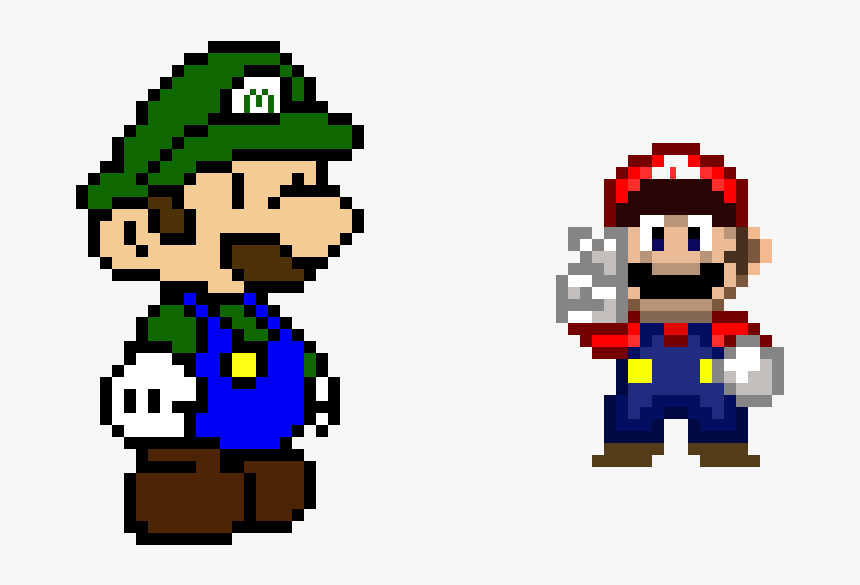 Transparent Luigi Face Png Paper Mario Pixel Art Png