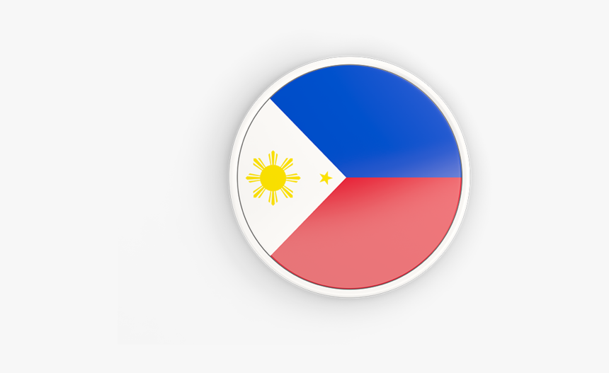 Round Icon With White Frame - Philippines Flag Round Icon, HD Png Download, Free Download