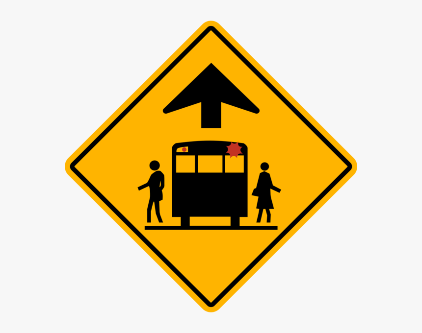 Transparent School Bus Stop Clipart - Winding Right Road Signs, HD Png Download, Free Download