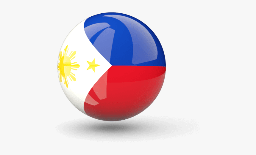 Circle Philippines Flag Png, Transparent Png, Free Download