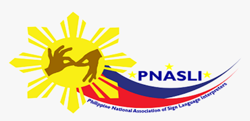 Interpreters Hand Behind Philippine Sun Flag With Blue - Philippine National Association Of Sign Language Interpreters, HD Png Download, Free Download
