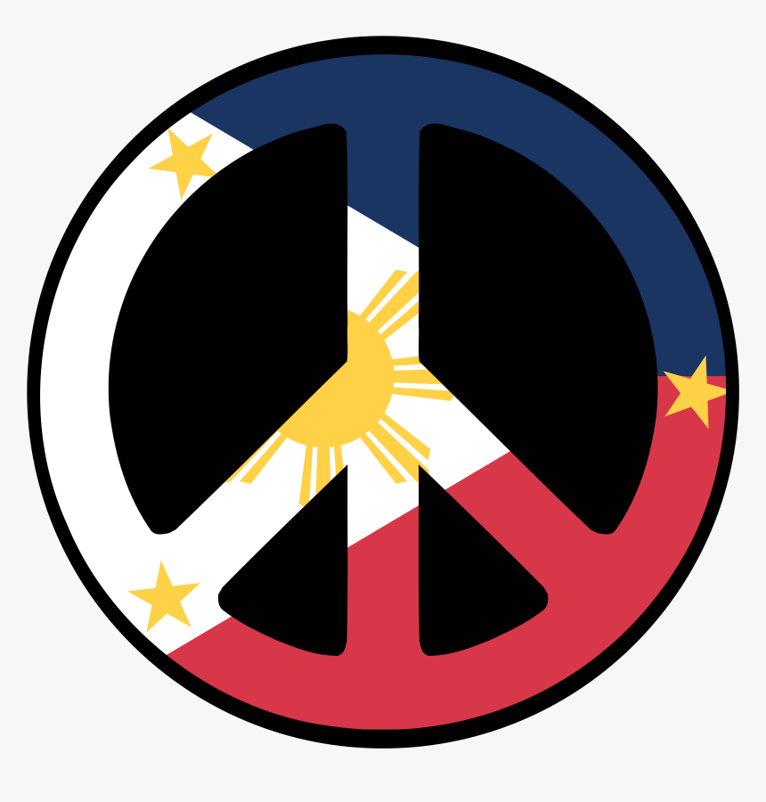 Philippines Drawing Symbol - Philippine Flag Peace Symbol, HD Png Download, Free Download