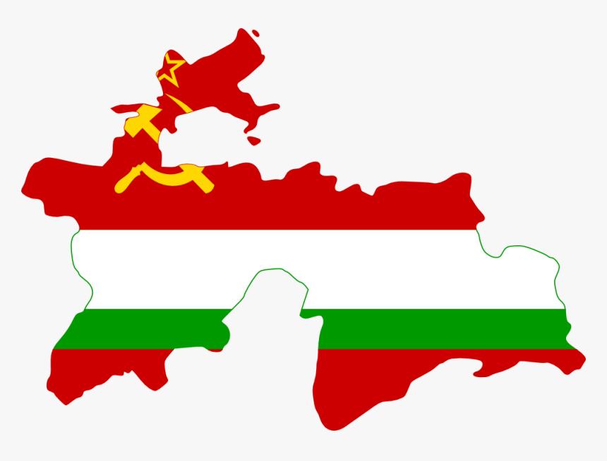 Flag Map Flagartist - Capital Of Tajikistan Map, HD Png Download, Free Download