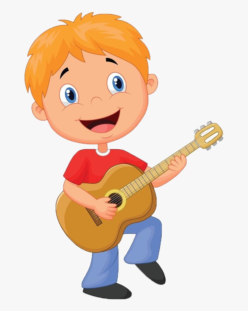 Guitarist Cartoon Clip Art Play The Guitar Clipart Hd Png Download Kindpng