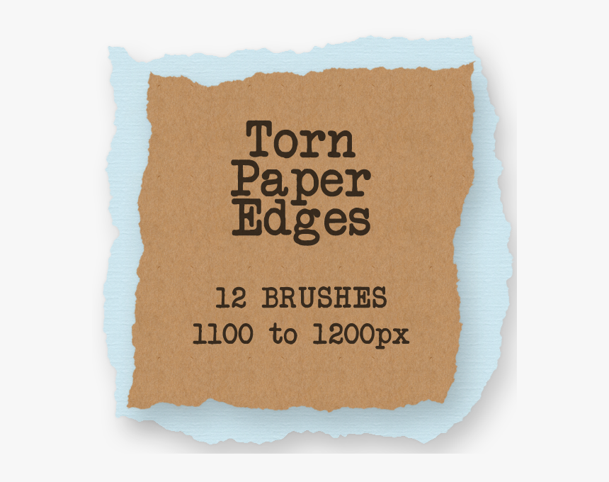 100 Creative Sets Of Photoshop Paper Brushes - Torn Paper Edge, HD Png Download, Free Download