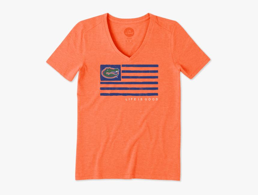 "Women""s Florida Gators Team Flag Cool Vee - Active Shirt, HD Png Download, Free Download"