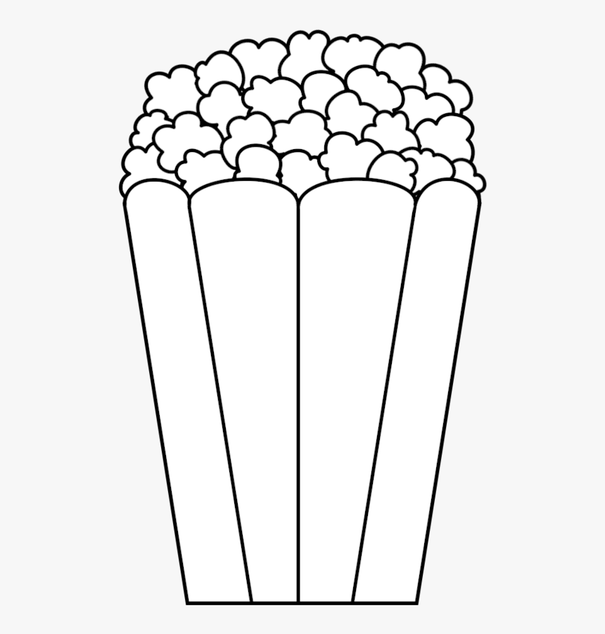 Clip Art Png Library Huge - Clip Art Of Popcorn Black And White, Transparent Png, Free Download