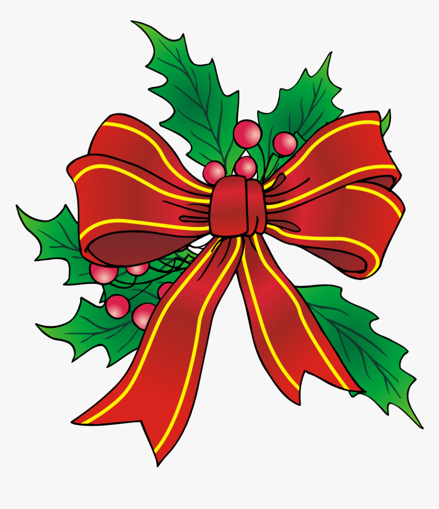 Christmas Bow Clipart Transparent Png - Christmas Bows Clip Art, Png Download, Free Download