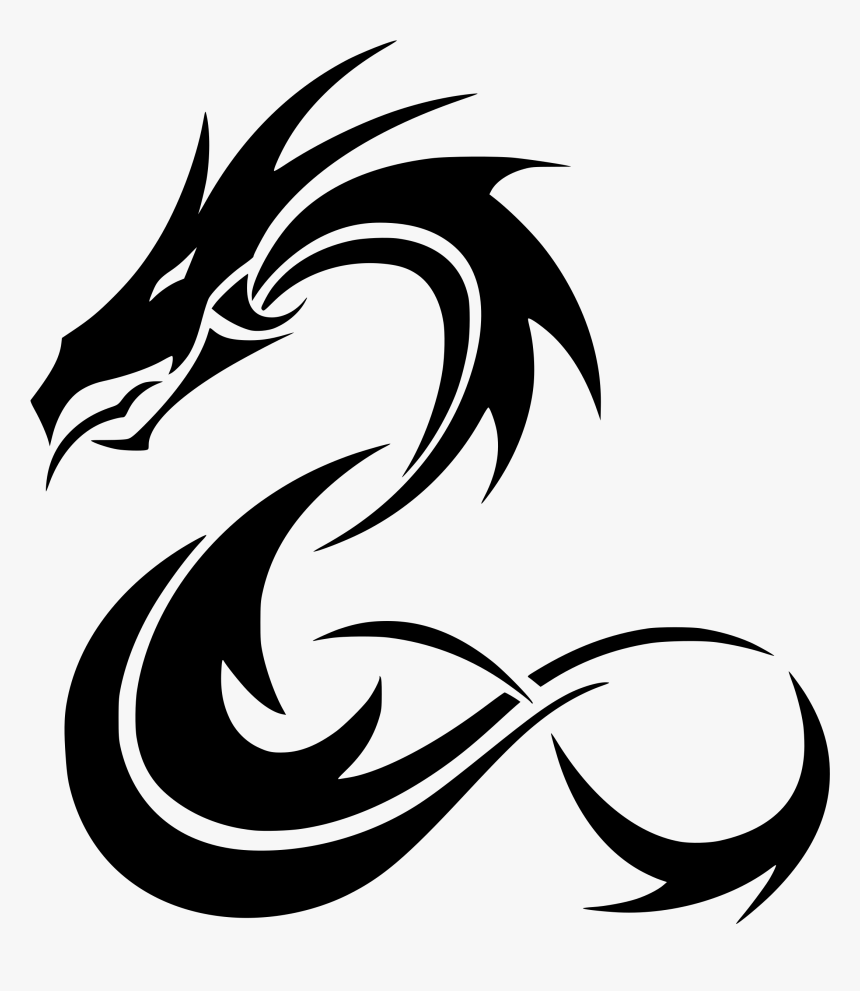 transparent dragon png images tribal dragon tattoos png download kindpng tribal dragon tattoos png download