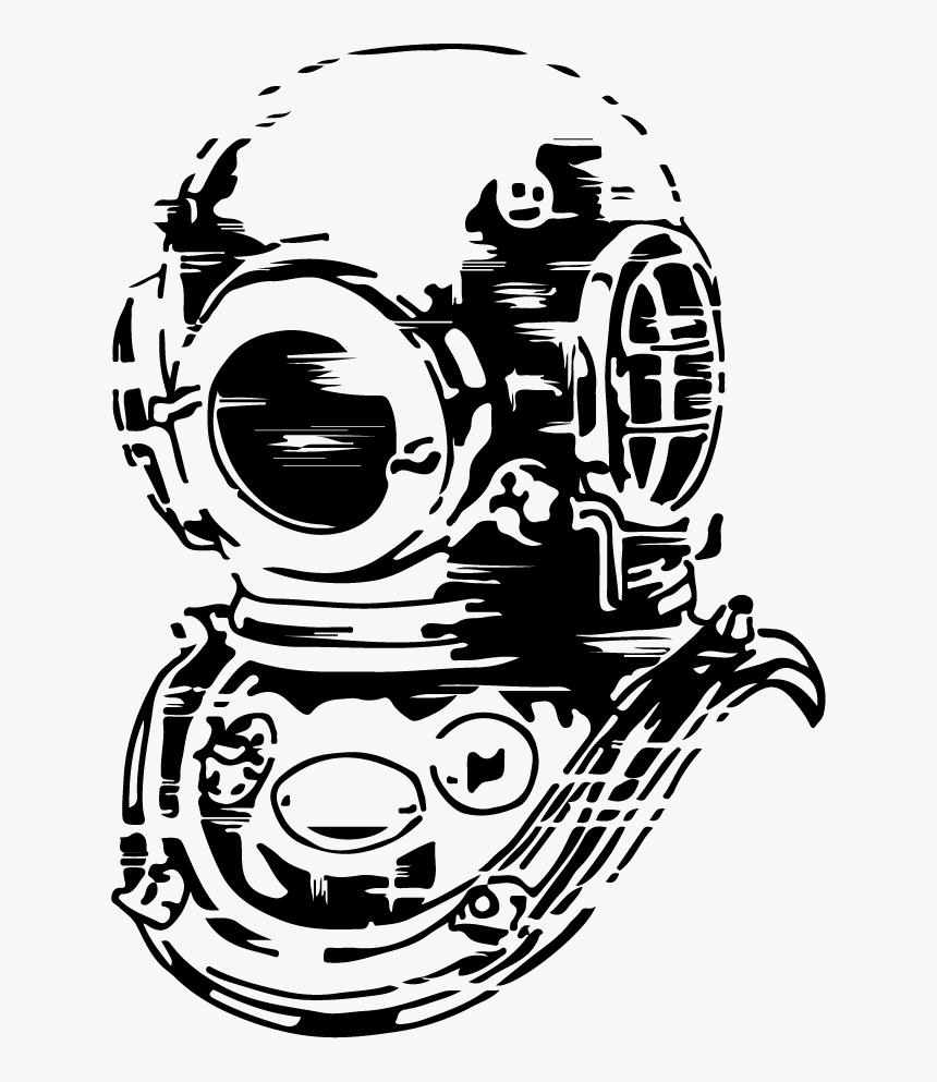 Diving Helmet Drawing Png, Transparent Png, Free Download