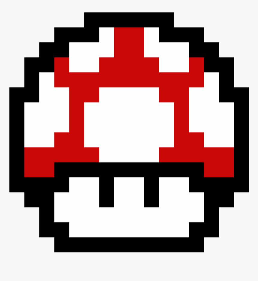 8 Bit Grid Pixel Super Mario Mushroom Hd Png Download Kindpng