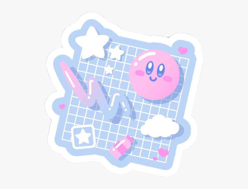 Japan Vaporwave Kirby Pink Pastel Kawaii Art Pink Puff Aesthetic Hd Png Download Kindpng