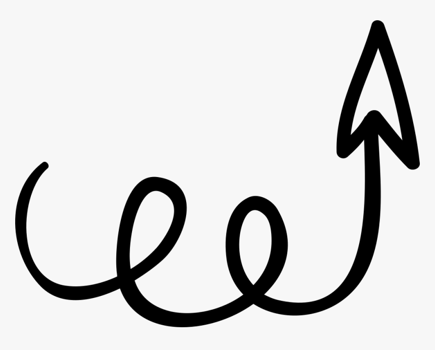 Swirly Arrow Pointing Upwards - Cute Arrow Pointing Up, HD Png Download, Free Download