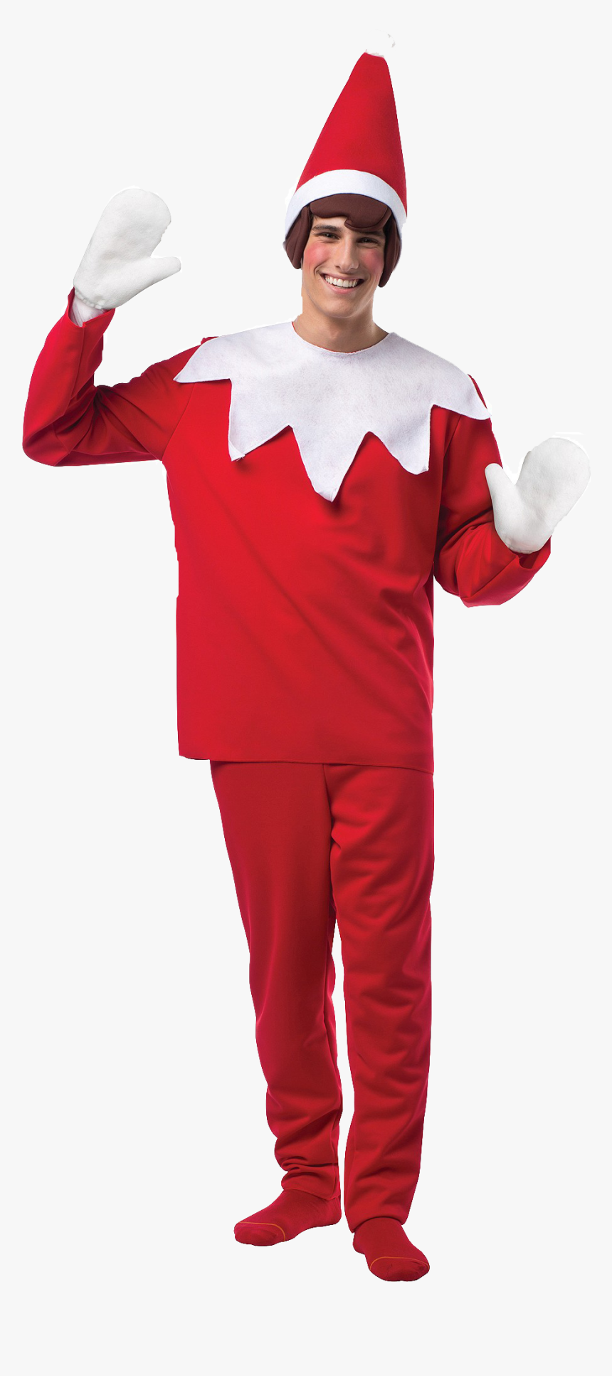 Christmas Dress Png Photo - Adult Elf On The Shelf Costume, Transparent Png, Free Download