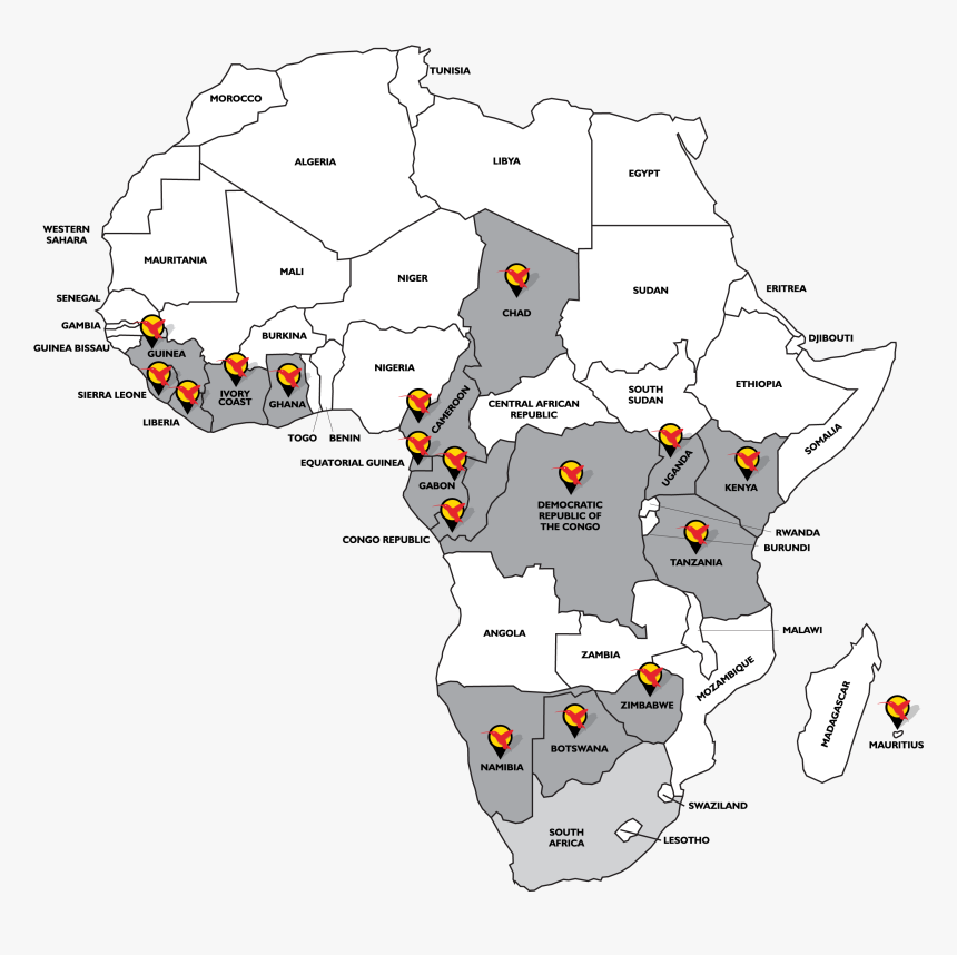 Transparent Africa Map Png - Urban Africa Risk Knowledge, Png Download, Free Download