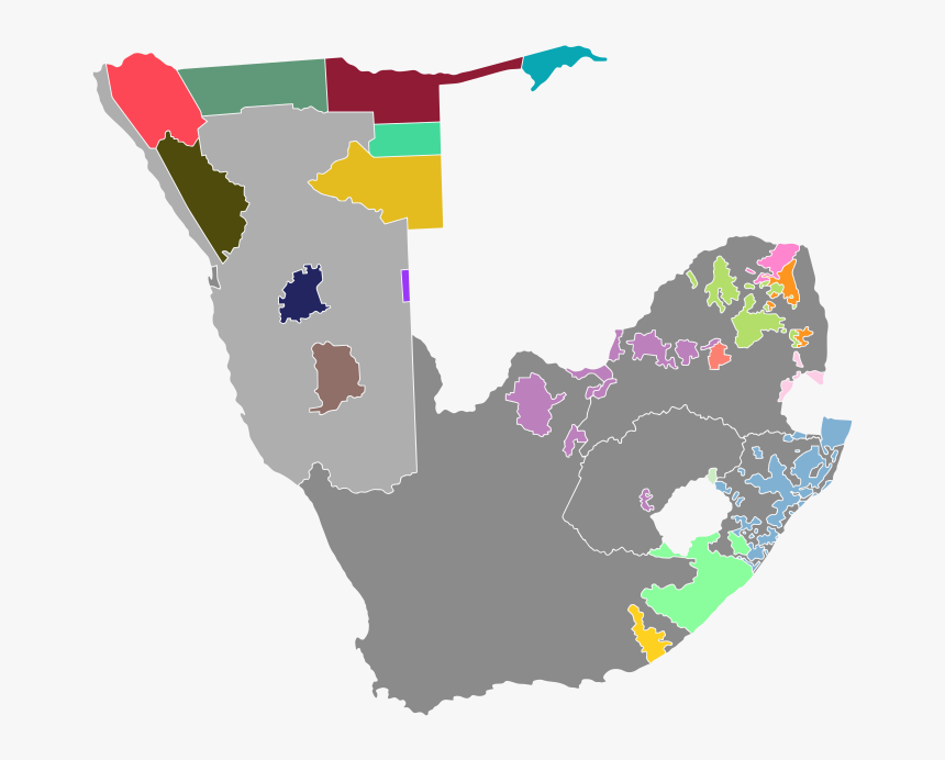 Map Of South Africa And South West Africa - South Africa Map Icon, HD Png Download, Free Download