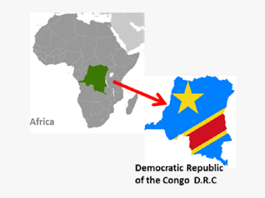 Flag Map Of Democratic Republic Of The Congo, HD Png Download, Free Download