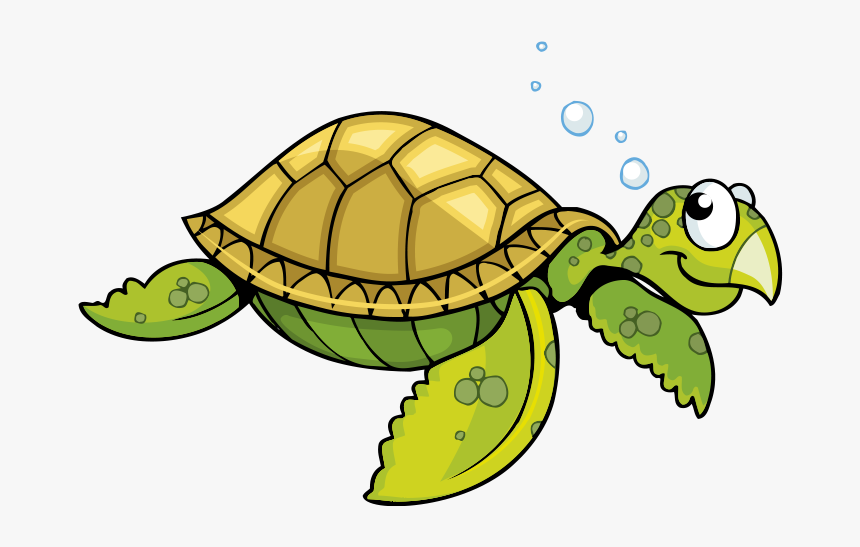 Tortoise Vector Cartoon Giant - Cartoon Sea Turtle Clipart, HD Png Download, Free Download