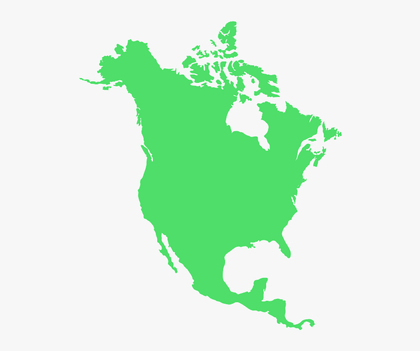 North America Map Red, HD Png Download, Free Download