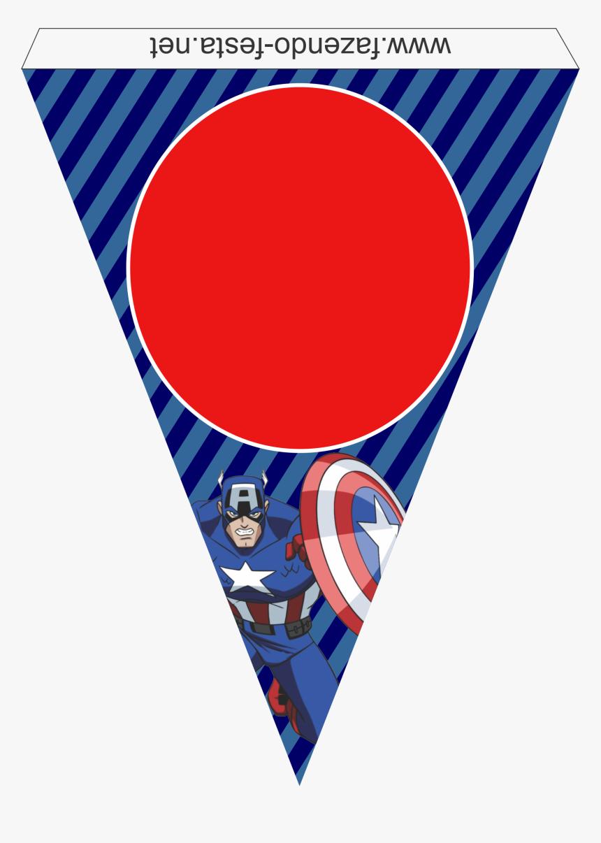 Decoracion De Capitan America Capitan America Cumpleanos Free Printable Captain America Birthday Banner Printable Hd Png Download Kindpng
