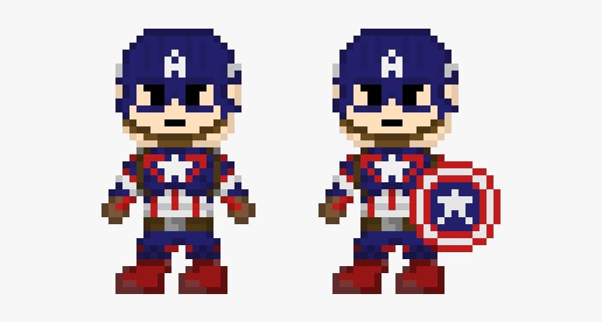 Pixel Art Captain America Infinity War, HD Png Download, Free Download