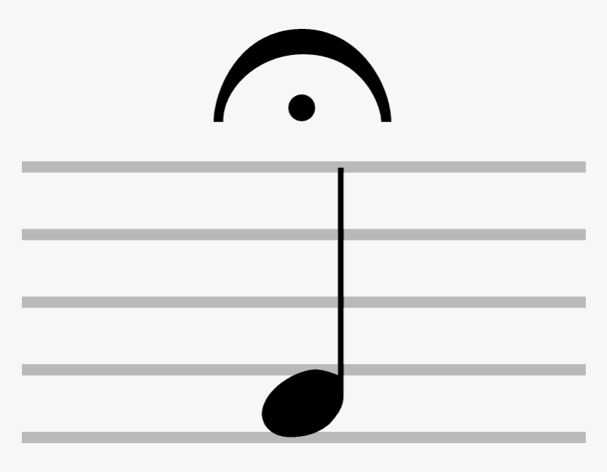 Transparent Half Note Clipart - Pause Note In Music, HD Png Download, Free Download
