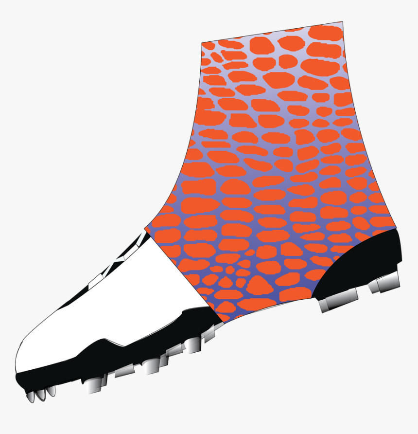 Gator- Print Royal Blue Fade To White Spats - American Flag Cleat Cover, HD Png Download, Free Download