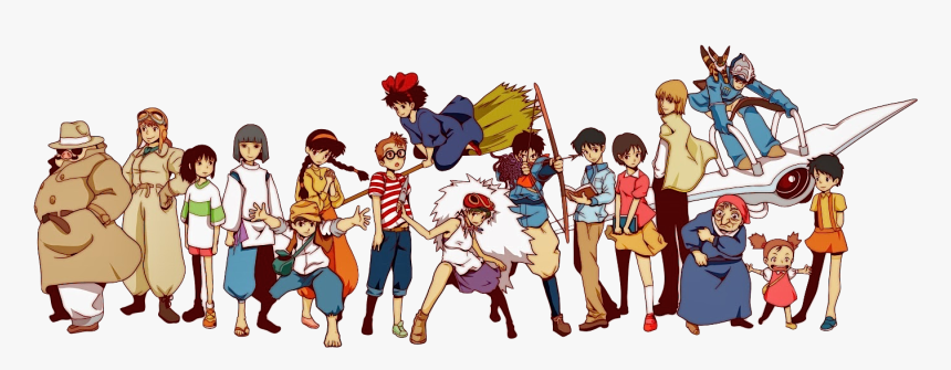 Studio Ghibli All Characters, HD Png Download, Free Download
