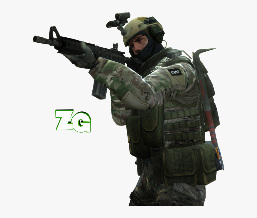 Csgo Soldier Png - Counter Strike Global Offensive Render, Transparent Png, Free Download