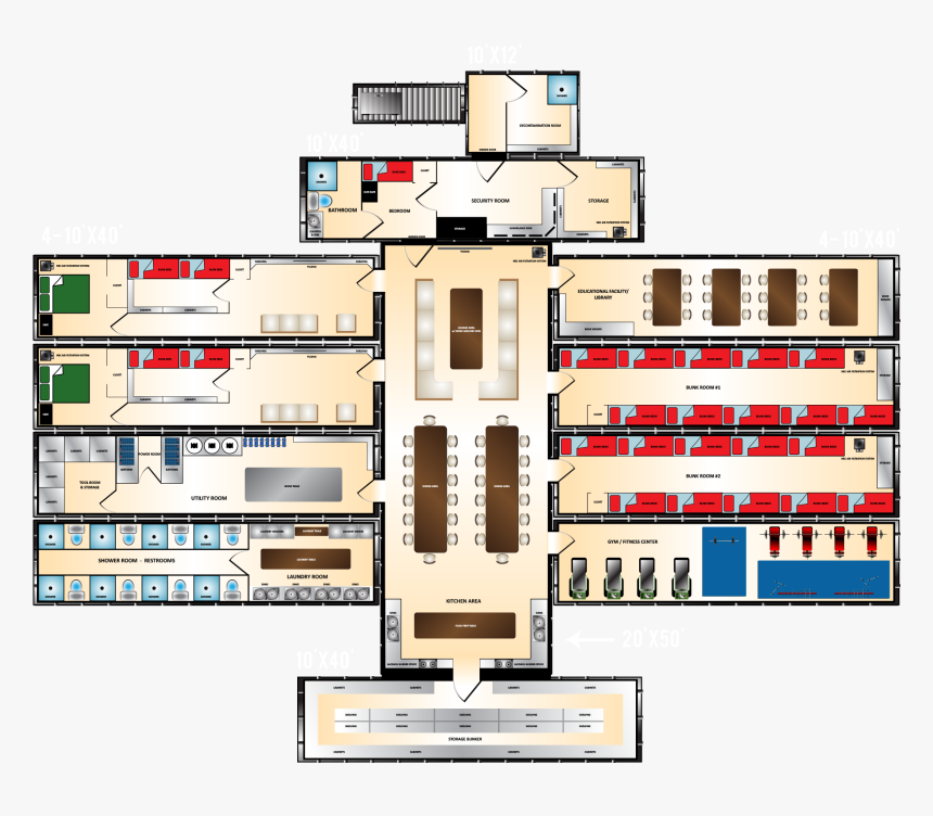 Doomsday House Plans Xtreme Series Fallout Shelter - Survival Bunker Floor Plans, HD Png Download, Free Download