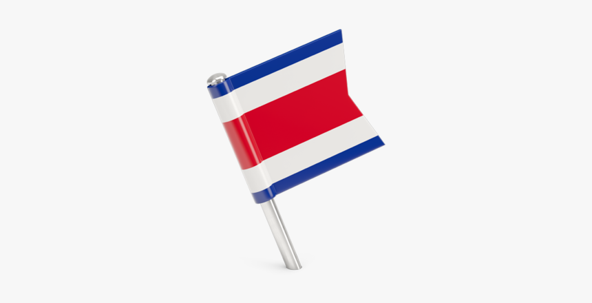 Square Flag Pin - Costa Rica Flag Pin, HD Png Download, Free Download