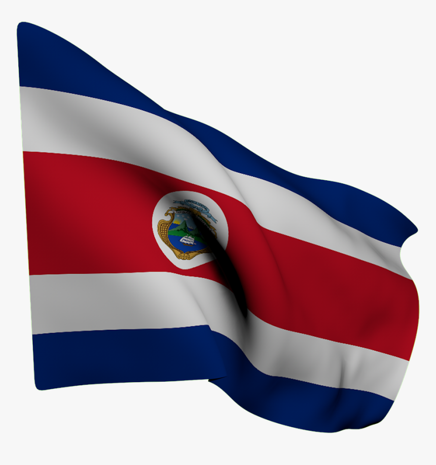 Flag Costa Rica White Free Photo - Bandera Costa Rica Png, Transparent Png, Free Download