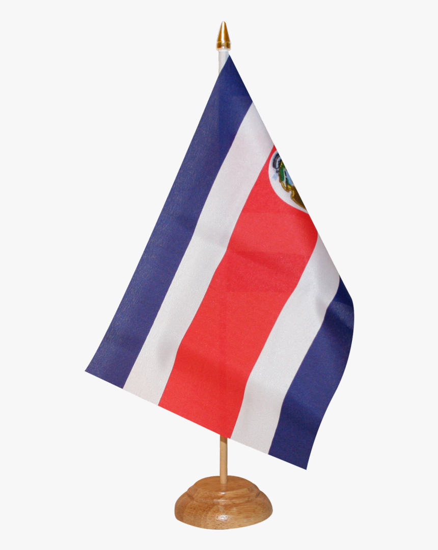 Costa Rica Table Flag - Costa Rica Flag Png, Transparent Png, Free Download