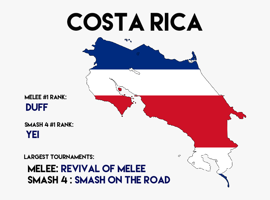 Transparent Costa Rica Flag Png - Transparent Costa Rica Flag Map, Png Download, Free Download