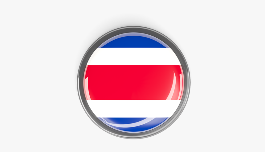 Metal Framed Round Button - Costa Rica Button Png, Transparent Png, Free Download