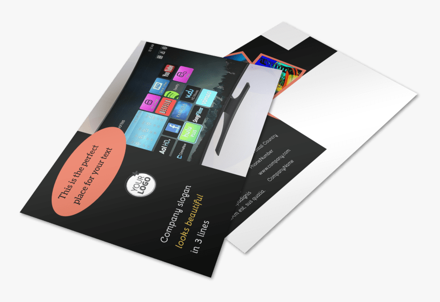 Dvd Video Production Postcard Template Preview - Iphone, HD Png Download, Free Download