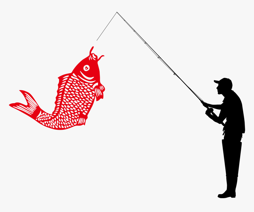 Fishing Angling Illustration - Guy Fishing No Background, HD Png Download, Free Download