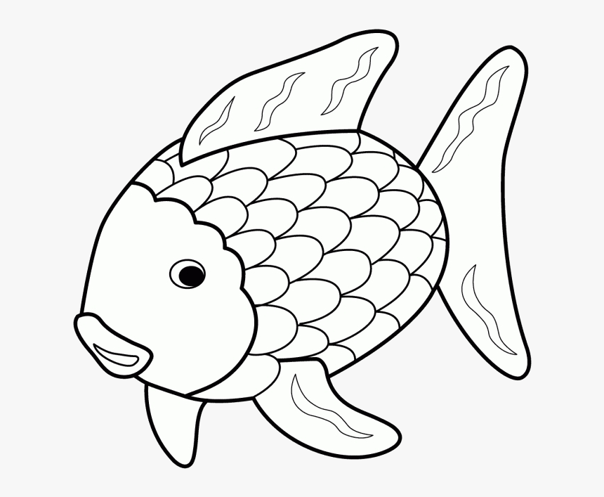 Fish Black And White Rainbow Clipart Clipartfox Transparent Water Animals In Drawing Hd Png Download Kindpng
