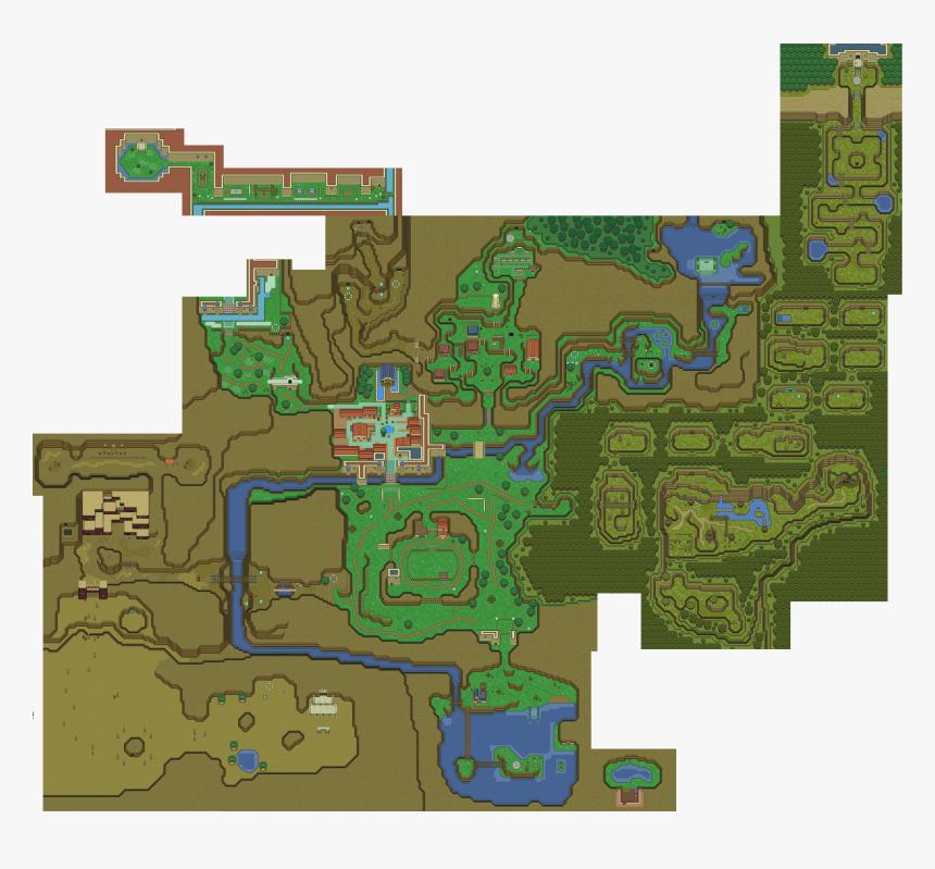 Ocarina Of Time 2d Map Hd Png Download Kindpng