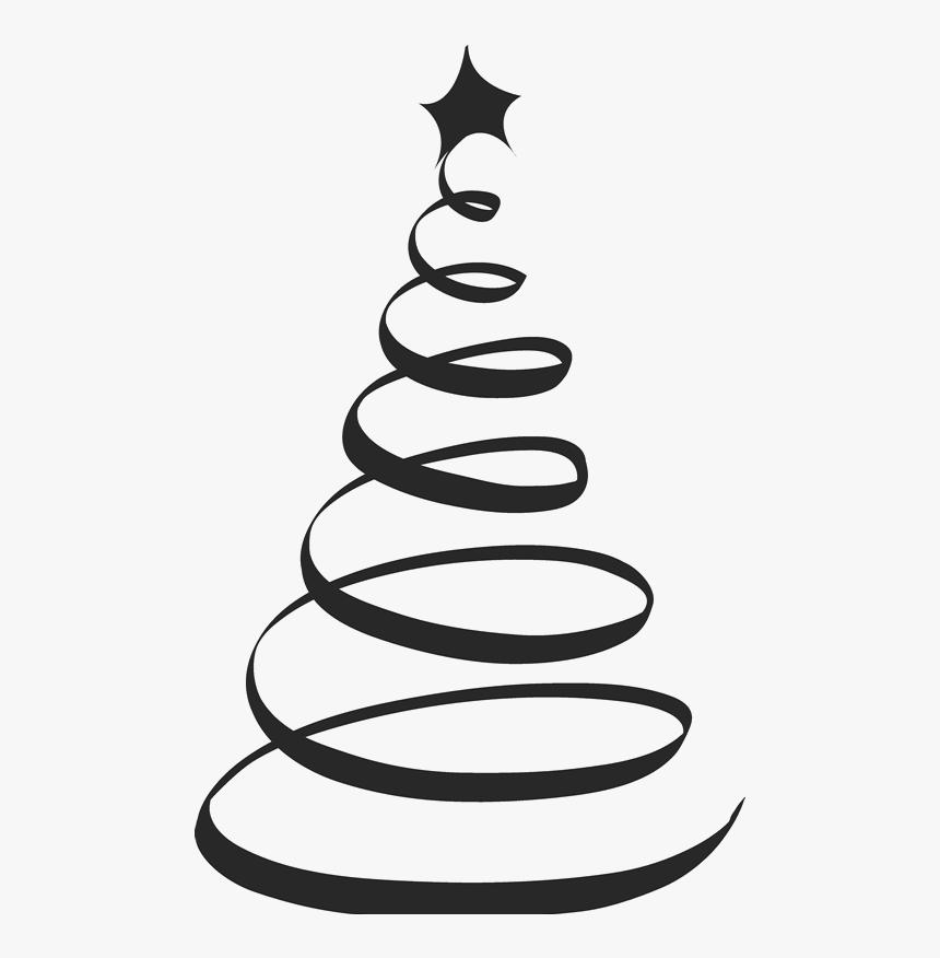 Swirl Christmas Tree Svg Hd Png Download Kindpng