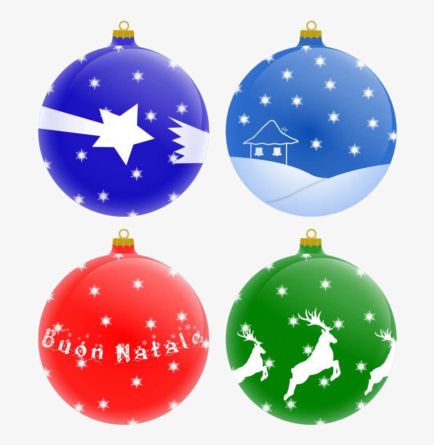 Palle Per Albero Di Natale - Christmas Ornament Vector Png, Transparent Png, Free Download