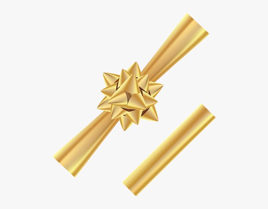 Corner Banner Png - Bow Png Gold Transparent, Png Download, Free Download