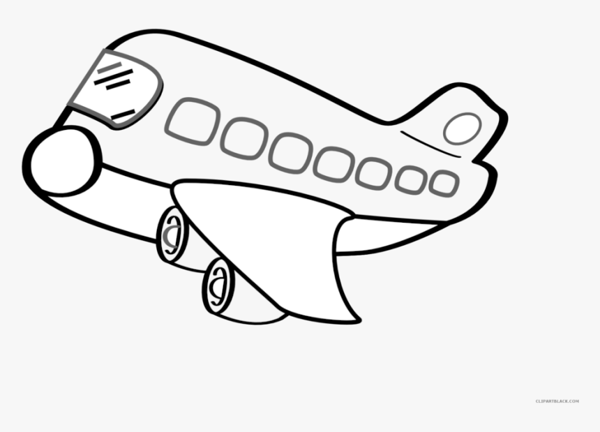 Airplane Clipart Outline 5 Clip Art Plane Clipart Black And