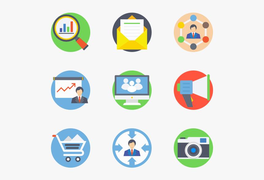 Digital Marketing - Digital Marketing Vector Icons, HD Png ...