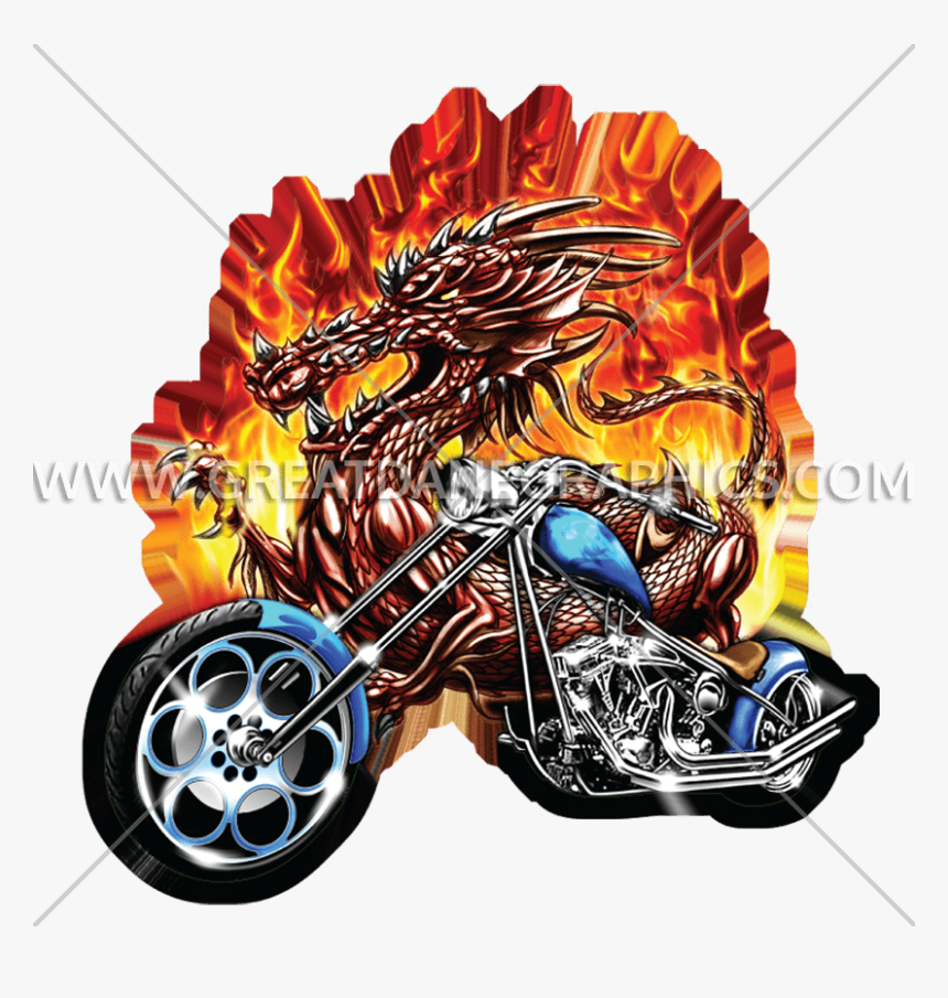 Dragon On Motorcycle, HD Png Download, Free Download