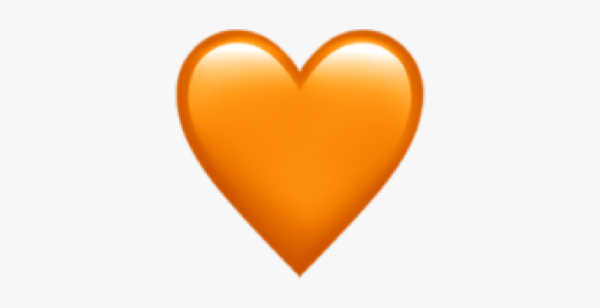 """3 Ways To Make Someone Fall In Love With You By Valentine""""s - Iphone Orange Heart Emoji, HD Png Download, Free Download"""