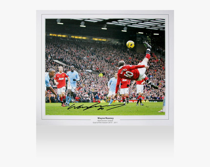 Wayne Rooney Signed Manchester United Photo - Wayne Rooney Bicycle Kick Wallpaper Hd, HD Png Download, Free Download