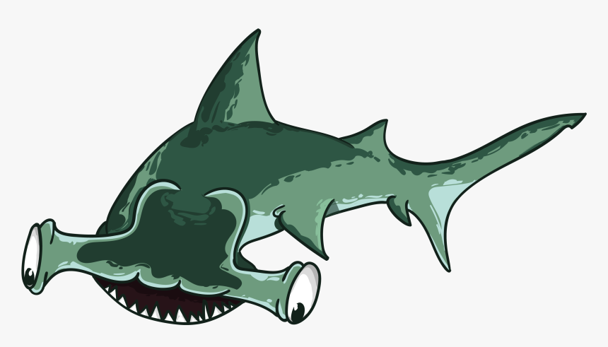 Shark, Fish, Hammer, Predator, Teeth, Mouth, Sea - Cartoon Shark Hammer, HD Png Download, Free Download